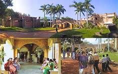 Auroville, India.   A self-sustainable city where there is no religion, no politics, and no money.
