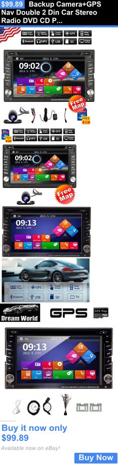 Vehicle Electronics And GPS: Backup Camera+Gps Nav Double 2 Din Car Stereo Radio Dvd Cd Player Usb/Sd In Dash BUY IT NOW ONLY: $99.89