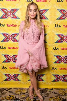 Stylish star: Rita Ora, 25, continued to showcase her impeccable sartorial taste as she attended The X Factor press conference at the Sky Bar at the Hilton Hotel in Wembley, London on Thursday