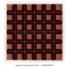 Dark Chocolate Bar Isolated On White Stock Photo (Edit Now) 1290979474