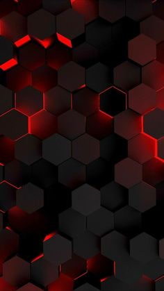 Red And Black Wallpaper, Black Phone Wallpaper, Abstract Iphone Wallpaper, Phone Screen Wallpaper, Neon Wallpaper, Apple Wallpaper, Cellphone Wallpaper, Hexagon Wallpaper, Wallpapers Android