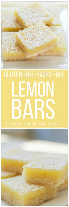 A delicious Dairy Free and Gluten Free lemon bars recipe with the best…