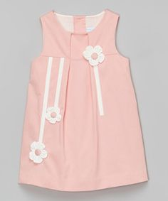 Love this Pink Floral Sleeveless Babydoll Dress - Infant, Toddler & Girls by La Fleur & Le Papillon on #zulily! #zulilyfinds