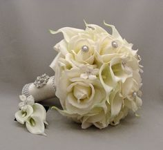 172 best wedding and bridal flowers bouquets images on pinterest silk flower bridal bouquets mightylinksfo