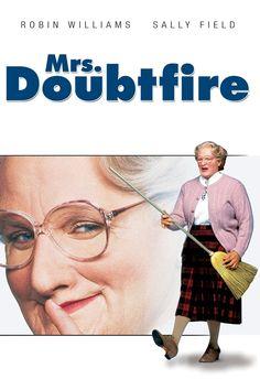 Doubtfire : Full Length Movie Loving But Irresponsible Dad Daniel Hillard, Estranged From His Exasperated Spouse, Is. Miss Doubtfire, Mrs Doubtfire Movie, Madame Doubtfire, 80s Movies, Good Movies, Movie Tv, 90 Films, Robin Williams, Tv Series Online