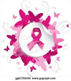 breast cancer awareness clip art | Clip Art - Butterfly breast cancer awareness. Stock Illustration ...