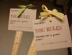 gift idea for teacher appreciation or Retired School Personnel event