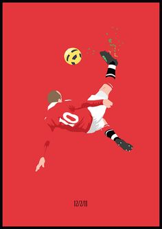 Rooney Bicycle SRA3 print by Footynews on Etsy