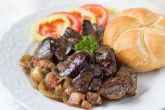 Pečená kuracia pečeň Poultry, Ham, Sausage, Food And Drink, Beef, Meals, Chicken, Cooking, Ethnic Recipes