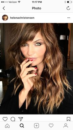 Pretty hair color! And style.