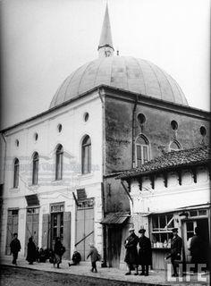 on muddy street in main part of town. Islamic Architecture, Moldova, Mosque, Bulgaria, Old Photos, Taj Mahal, Maine, Ottoman, History