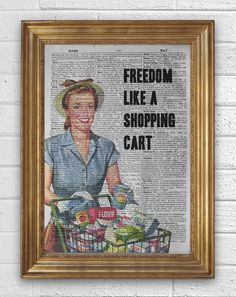 NOFX Freedom like a shopping cart Art Print on by inketcetera