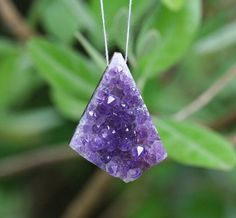 DRILLED Rose Amethyst Druzy Freeform Pendant by Glimmeri...