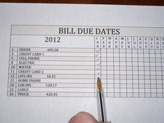 The Clutter Diary: Organizing Bills and Bill Payments