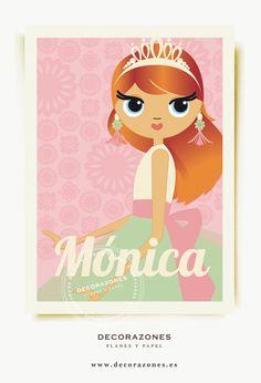 Decorazones.es _ Lámina personalizadas para pequeñas princesas