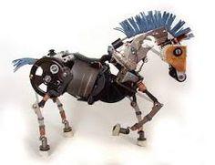 Computer parts horse