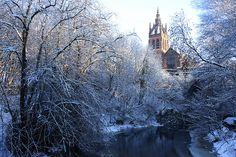 winter in Glasgow, Scotland