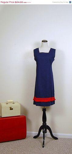 SALE 60s Nautical Dress by CheekyVintageCloset on Etsy, $19.20