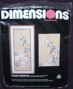Vintage Elegant Magnolias Dimensions Needlepoint Kit - oriental elegance #2331