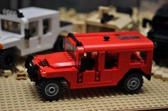 LEGO City Hummer HMMWV SUV Truck Red Vehicle