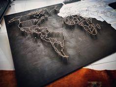 #striMAPArt #stringart #handmade Me On A Map, String Art, Maps, Wall Art, Artist, Projects, Handmade, Crafts, Instagram