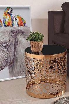 Home Affaire Beistelltisch »Pabla«, Goldfarben