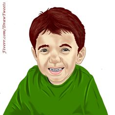#CuteChild Ready to #Play - #art piece inspired by Georgenabil21 on http://Fiverr.com/DrawTweets  #drawing #draw #caricature #cartoon