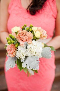 Peach colored bouquet