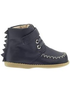 boy's lace up boot with dragon details. Livie & Luca Rex