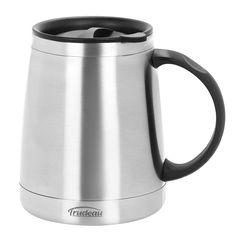 Stainless Steel Trudeau Donoti Wide Bottom Desk Mug