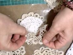 Stunning Shabby Chic Doily Flowers - jennings644 - YouTube