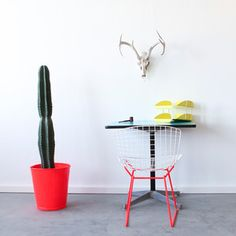Cast & Crew Vintage - Bertoia Side White Red, $595, now featured on Fab.