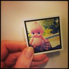angry chicken: tiny printed photos taken from my phone