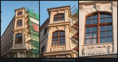 Erker des Trierschen Hauses, Dresden, Stand am 10.9.2016