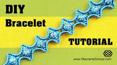 How to make a Macrame Star Bracelet with beads. ( Star waves pattern :) This bracelet looks very interesting and its not hard to make. Watch more beaded macr...