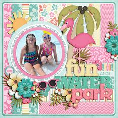 """1. Kit: """"Coconut Grove"""" by Melissa Bennett 2. Alpha: from """"You and Me"""" by Jady Day Studio and Meghan Mullens 3. Pink Alpha: from """"Strawberry Kisses"""" by Lliella Designs 4. Template: """"Layered Dates Set #8"""" by Cindy Schneider 5. Font: """"Holly Serif"""" by Darcy Baldwin"""