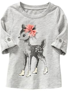 Chiffon-Bow Graphic Tunic for Baby Product Image