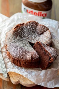 Nutella cake - Recipe Creamy nutella cake on We Heart It Easy Cake Recipes, Sweet Recipes, Dessert Recipes, Food Cakes, Nutella Recipes, Chocolate Recipes, Nutella Cake, Pudding Cake, Savoury Cake