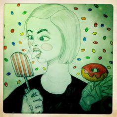 'Slikmund' Louise Steffensen #inktober