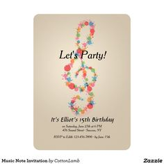 10 best music note invites images on pinterest music lyrics music music note invitation stopboris Images