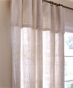 Summer Hemp Curtain Panels with 12-inch overhang are lined in the same fabric and come with hooks and rings