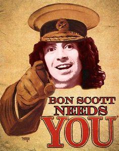 - Bon Scott Needs You - #Music #singer #ACDC #BonScott #musician…