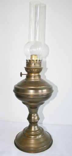 Brass oil lamp from Grandma's time by HomiArticles on Etsy