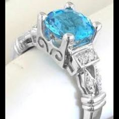 I want a bright blue wedding ringggg