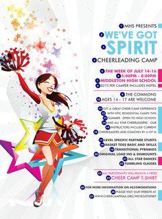 Cheerleading Flyer | Cheerleading Spirit Flyer