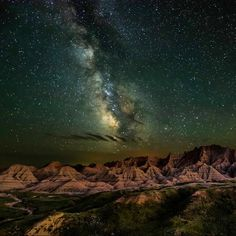 Bathed in starlight from the Milky Way, the unique rock formations of Badlands National Park in South Dakota glow in the darkness. The ancient landscape and fascinating fossil beds make this place seem timeless. This stunning photo was the winner in the night sky category of the Share the Experience photo contest, which gives amateur photographers the chance to showcase their skills by capturing the beauty of  public lands. Photo by Erik Fremstad (www.sharetheexperience.org).