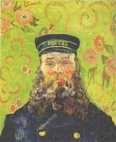 Portrait of the Postman Joseph Roulin | Vincent Van Gogh | oil painting #vangoghpaintings
