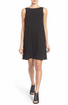 Main Image - Eileen Fisher Lightweight Jersey Shift Dress (Regular & Petite) (Nordstrom Exclusive)