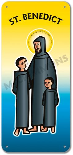 Youngest disciple of St. Placid - 5 October shown here with his older brother St. Maur and St. Poster On, Poster Prints, Banners, Brother, Saints, October, Boards, Display, Confirmation