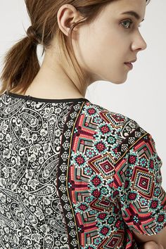 Photo 5 of Scarf Print Top- topshop